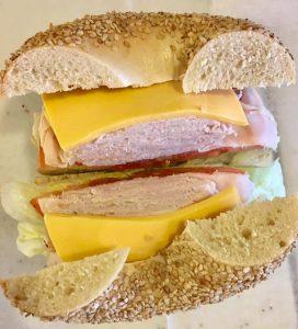 Cheese on sandwich - Fanagle the Bagel - Bagel Deli - 444 Ocean Blvd, Long Branch, NJ 07740