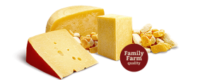 We offer a big selection fo cheese toppings for baggel sandwiches.
